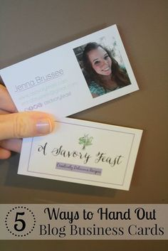 5 Ways to Hand Out Your Blog Business Cards. Having business cards is a great way to promote your blog. But how do you hand them out?