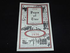 1936 Pages of Time: A Nostalgia News Report Book - Paperback