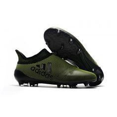 big sale b7ed6 18481 Billig Adidas X 17 Purechaos FG Fotballsko Dark Grunn Svart. Soccer  ShoesSoccer ...