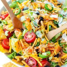 Buffalo Chicken Taco Salad