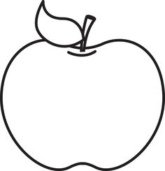 Apple black and white apple clipart black and white Fruit Coloring Pages, House Colouring Pages, Easy Coloring Pages, Apple Coloring, Coloring Pages To Print, Pecan Cobbler, Rock Crafts, Fall Crafts, Windows Color