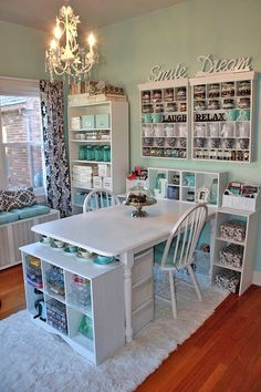 Tons of tips for creating a craft room.