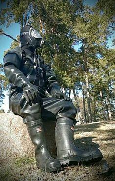 Scuba Wetsuit, Latex Men, Hazmat Suit, Breathing Mask, Rubber Raincoats, Diving Suit, Heavy Rubber, Rain Wear, Cool Photos