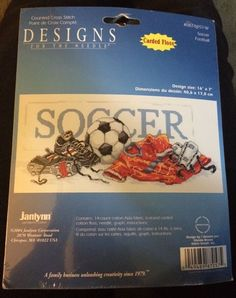 JANLYNN - SOCCER FOOTBALL - COUNTED CROSS STITCH KIT- 087-0057 - NEW in Kits | eBay