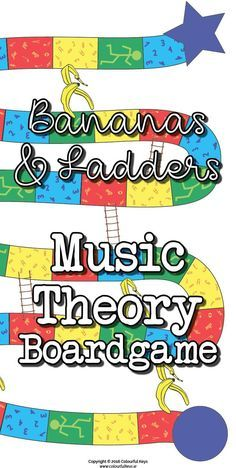 Bananas and ladders music theory board game for level 1 piano students.