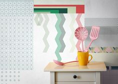 Shop 1118 East: Cut and Paste Wallpaper by All The Fruits