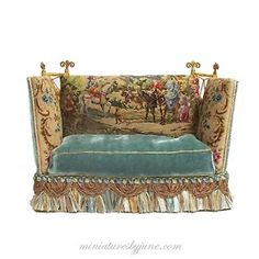 Knoll sofa Miniatures by June Clinkscales