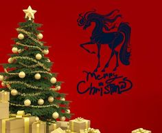 Housewares Vinyl Decal Merry Christmas Words Holiday Horse Animal Home Wall Art Decor Removable Stylish Sticker Mural Unique Design for Any Room Decal House http://www.amazon.com/dp/B00FWNOCU4/ref=cm_sw_r_pi_dp_GtWUtb1FMKR3FTF2