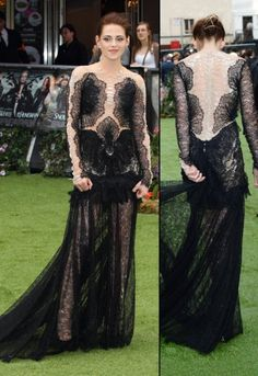 Kristen Stewart in Marchesa at the world premiere of 'Snow White and the Hunstman' in London on May 14.