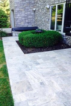 Silver French Pattern Travertine Pavers. For more info please visit www.travertinewarehouse.com.