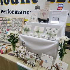 My Little Chickadee Creations display at St. Patrick's Day Craft Fair.  My trivet display.