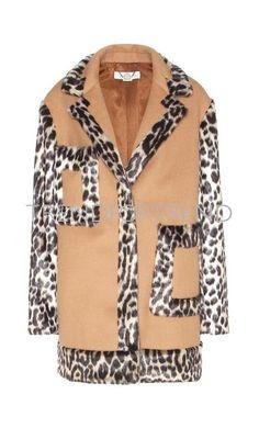 Stella McCartney Wool-blend And Faux Fur Coat Stella Mccartney Coat, Ladies Coat Design, Beige Coat, Look Chic, Designing Women, Wool Blend, Luxury Fashion, Women Wear, Faux Fur