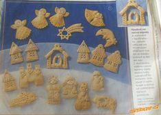 Vizovické pečivo slané těsto vánoční motivy