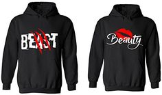 Beast & Beauty - Matching Couple Hoodies - His and Her Sweaters…