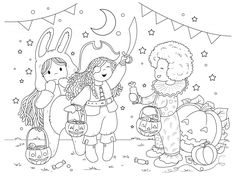 We have been having SO much fun with these colouring pages - the two gals I have working on them are so uber talented. I polled our little community over on Facebook about ideas for pages and have some fantastic ones in the works. But because Halloween is only a few days away I thought it would be…