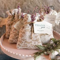 Add a little shabby chic to your wedding day and parties with this adorable Burlap, Nylon Lace Rustic Chic Burlap and Lace Drawstring Favor Bag. The perfect ble