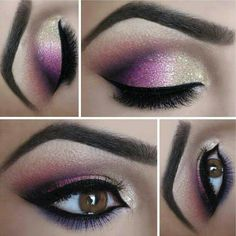 Purple ombré eyes