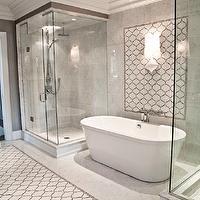 Terra Verre - bathrooms - freestanding tub, freestanding double shower bath,