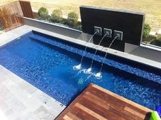 Image result for pool water feature