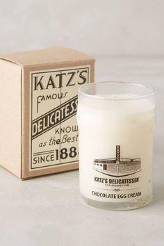 Katz's Delicatessen Candle - anthropologie.com | Pinned by topista.com
