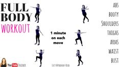 Full Body Workout For Women - Home Fitness Exercise Routine, this tones your abs, thighs, waist, booty, arms and shoulders. You don't need any equipment and it takes just 6 minutes. Lucy xx