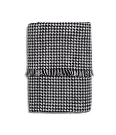 Black and White Houndstooth Scarf
