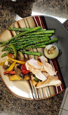Chicken with Grilled Veggies
