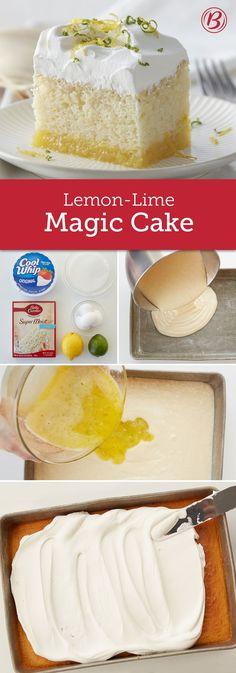 Lemon-Lime Magic Cake Lemon-Lime Magic Cake Betty Crocker bettycrocker Delish Desserts A citrusy lemon-lime filling is poured over white cake batter so the nbsp hellip filled Cupcake Cookie Cake Pie, Cake Cookies, Cupcake Cakes, Cupcakes, Lemon Desserts, Just Desserts, Delicious Desserts, Magic Cake Recipes, Dessert Recipes