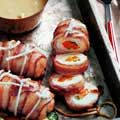 Bacon-wrapped Chicken Rolls