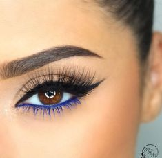 To Do Eyeliner For Every Eye Shape: Sure-Fire Tips & Tricks The blue liner and lash mascara balances the black upper lid liner beautifully.The blue liner and lash mascara balances the black upper lid liner beautifully. Makeup Goals, Makeup Inspo, Makeup Inspiration, Makeup Tips, Makeup Ideas, Makeup Hacks, Makeup Tutorials, Easy Makeup, Hair Hacks