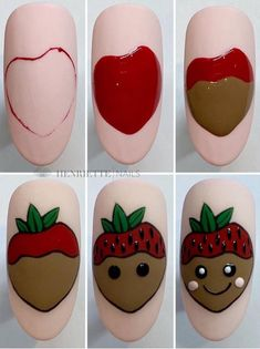 Acrylic False Almond Nails Designs Art In Summer With Fresh And Vibrant - Keep creating beauty and warm home, Find more happiness in daily life Fruit Nail Designs, Simple Nail Art Designs, Gel Nail Designs, Diy Acrylic Nails, Shellac Nail Art, Nail Nail, Diy Nails, Cute Spring Nails, Cute Nails