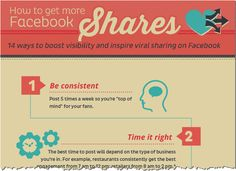 14 Ways To Get More Facebook Shares [INFOGRAPHIC]  Watch for opportunities to thrive.  www.jazzyeco.com