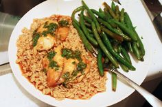 Two Recipes:  Baked Asian Tilapia with Green Beans...great blog for recipes