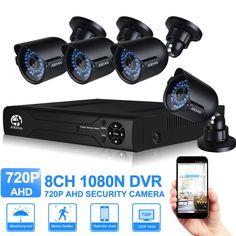 JOOAN 1080N 8CH CCTV NVR Blanco 4x720 P (1280TVL) Al Aire Libre de Cámaras de Seguridad de 4CH Sistema de Cámaras de Seguridad