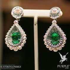 Be the center of attraction take a look at these earrings by @katerina_perez instantly fell in love during with this pair with emeralds pearls and diamonds via @jewelryjournal #purplebyanki #diamonds #luxury #loveit #jewelry #jewelrygram #jewelrydesigner #love #jewelrydesign #finejewelry #luxurylifestyle #instagood #follow #instadaily #lovely #me #beautiful #loveofmylife #dubai #dubaifashion #dubailife #mydubai #Earrings #Emeralds #Pearls