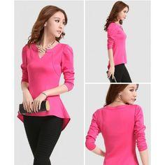 Blusa rosado estilo coreano