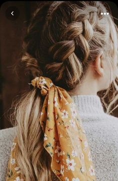 Scarf Hairstyles, Cute Hairstyles, Straight Hairstyles, Braided Hairstyles, Hairstyles With Ribbon, Scrunchy Hairstyles, Hairstyles 2018, Protective Hairstyles, Short Haircuts