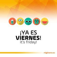 Ya es viernes #yaesviernes #itsfriday #summertime #vector #graphics #cool #messages #mensajes #viernes #fridays
