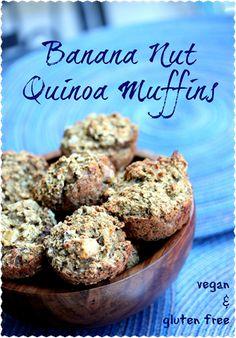 banana nut quinoa muffins