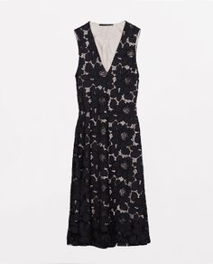 ZARA - COLLECTION AW14 - LACE V-NECKED DRESS