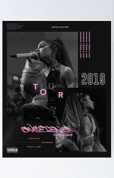 'sweetener tour pink' Poster by dangerousmoonx Ariana Grande Poster, Ariana Grande Pictures, Ariana Grande Background, Ariana Grande Wallpaper, Ariana Tour, Indie, Nickelodeon, Tour Posters, Dangerous Woman