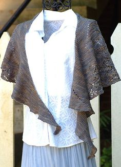 Atreides pattern by Barbara Benson. Knit in fingering weight and has small…