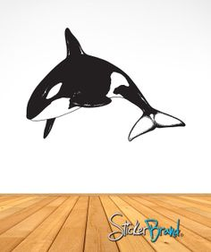 Vinyl Wall Decal Sticker Orca Killer Whale AEdel114B