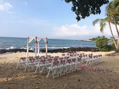 Bamboo Structure by Hawaii Island Events, Flowers by Ainahua Florals Fairmont Orchid, Kohala Coast, Hawaii Hotels, Bamboo Structure, Fairmont Hotel, Coconut Grove, Hawaii Wedding, Big Island, Wedding Ceremony