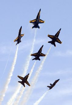 The Blue Angels ... it was always so exciting to see them each year at the Willow Grove, PA Air Show.