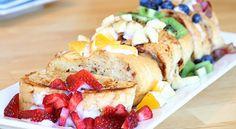 Give your French Toast a rainbow twist. #breakfast #StPatricksDay