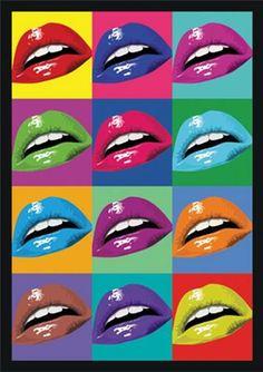 Poster para imprimir pop art - bocas coloridasl Blog Dikas e diy