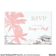 Find customizable Beach invitations & announcements of all sizes. Pick your favorite invitation design from our amazing selection. Beach Wedding Invitations, Wedding Rsvp, Summer Wedding, Wedding Beach, Response Cards, Cool Gifts, Palm Trees, Coral, Tapestry