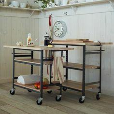 Design Workshop Wood Top Bar + Counter #WestElm