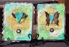awesome altered heart canvas...there is a video tute link from http://rondapalazzari.typepad.com/helpmeronda/2011/02/my-heart-is-altered.html
